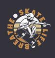 logo design skate life breawith man playing vector image