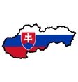 Map in colors of Slovakia vector image vector image