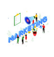 marketing strategy - modern colorful isometric vector image vector image