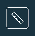 measurement icon line symbol premium quality vector image vector image