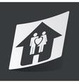 Monochrome family sticker vector image