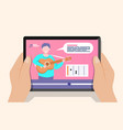 online guitar lessons cartoon style vector image
