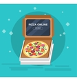 Online pizza order vector image