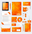 orange set of corporate identity template vector image vector image