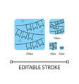 party garland blue linear icons set vector image