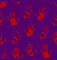 red bloody scary hands imprint seamless pattern vector image