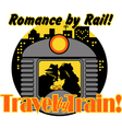 Romance by rail vector image