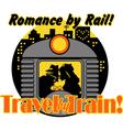 romance rail vector image vector image