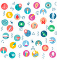 seamless pattern medical health care medicine vector image