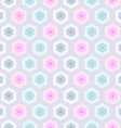 Seamless retro honeycomb pattern-2 vector image vector image