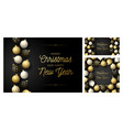 set luxury christmas and new year square vector image