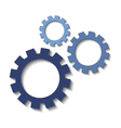 Set of mechanical cogs icons vector image