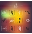 Set of selfie icons vector image