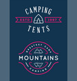 set of summer camp badges with design element vector image