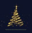 shiny sparkles creative christmas tree design vector image vector image