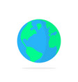 simple planet earth icon with shadow vector image vector image