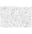 start up background from line icon vector image vector image
