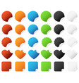 sticker badge set a set of colorful sticker vector image vector image