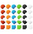 sticker badge set a set of colorful sticker vector image