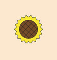 sunflower icon autumn harvest concept vector image vector image