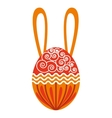 sweet egg paint colorfull isolated icon design vector image
