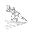 track and field athlete running doodle art vector image vector image