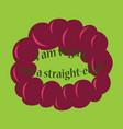 vegetarian logo template design food logo flat vector image vector image