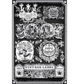Vintage Hand Drawn Blackboard Banners and Labels vector image vector image
