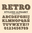 vintage typography font decorative retro vector image vector image