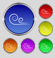 wind icon sign Round symbol on bright colourful vector image vector image