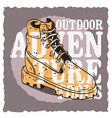 Winter male boots themed vintage influenced