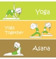 Yoga banner Professional banner vector image