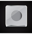 button icon on metal background vector image