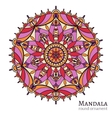 Round ornament pattern with arabic and indian vector image