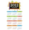 2012 educational calendar vector image vector image