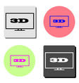 3d flat icon vector image vector image
