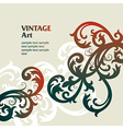 7floral line 49 2 vector image vector image