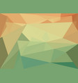 abstract background with orange-green crystal vector image vector image