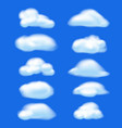 abstract cloud on blue sky background nature vector image