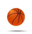 basketball ball vector image vector image