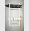black friday interior items sale banner vector image