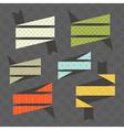Bright ribbons vector image vector image