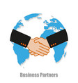 business partners world with shadow on a white vector image vector image