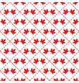 canada red maple leaf patter vector image vector image