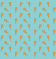 chicken thighs pattern colorful in aquamarine vector image vector image