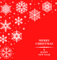 christmas ice red vector image