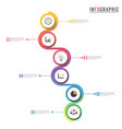 circle infographic template six option process or vector image vector image