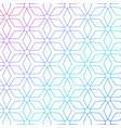 colorful geometric lines pattern background vector image vector image