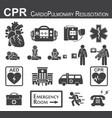 cpr cardiopulmonary resuscitation icon vector image vector image
