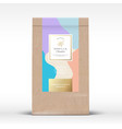 craft paper bag with minty chocolate label vector image vector image